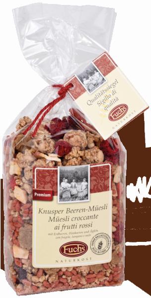 Knusper Beeren-Müsli mit Apfel - Fuchs Privatmühle