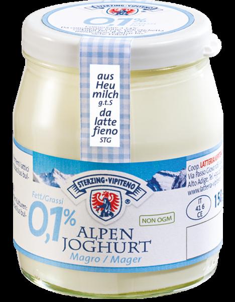 Alpenjoghurt Natur Mager aus Heumilch - Milchhof Sterzing