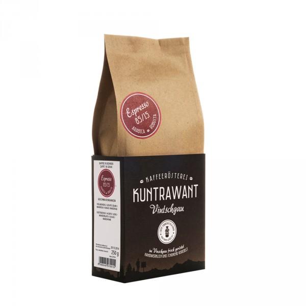 Espresso 85% Arabica 15% Robusta Bohnen Bio - Kuntrawant