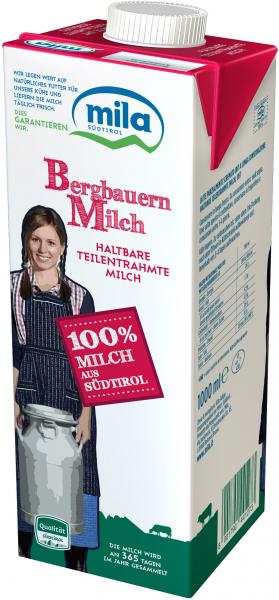 H-Milch Teilentrahmt - Mila Bergmilch