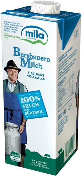H-Milch Vollmilch - Mila Bergmilch