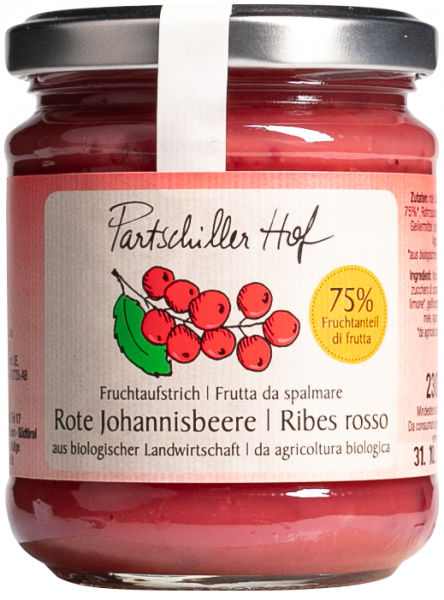 Rote Johannisbeere Bio Fruchtaufstrich - Partschillerhof