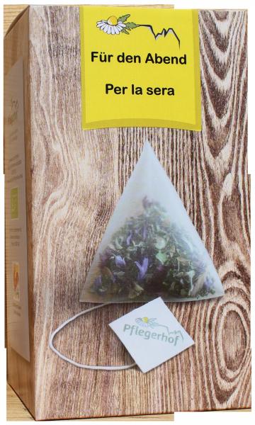 Für den Abend Tee Bio Pyramidenbeutel - Pflegerhof