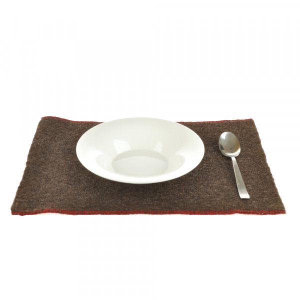 Tischset dunkelbraun Wolle - Pur Manufactur
